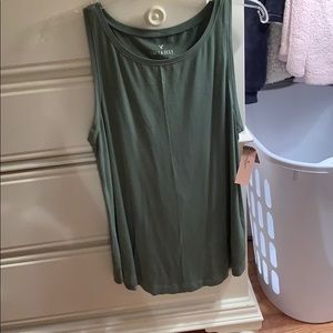 AEO Medium Soft & Sexy Green Tank